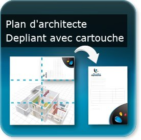 affiche 1200 x 1760 mm Plan d'architecte