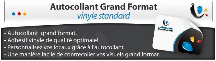 Autocollant & Étiquette Standard vinyl Blanc