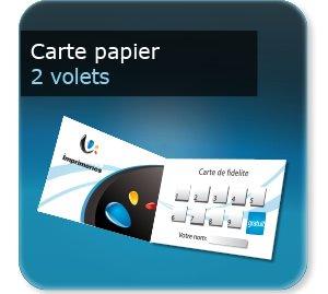 Carte de fidelité Carte de fidelité papier à tamponner 2 volets