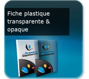 Flyers Fiche document en plastique transparent ou opaque
