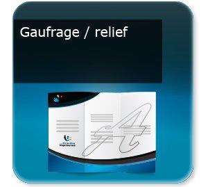 Dépliants / Plaquettes Gaufrage relief