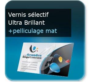 Cartes de correspondance Luxe  vernis sélectif