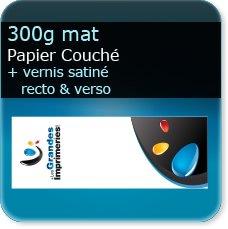 Marque pages 300g mat + vernis satiné R°/V°