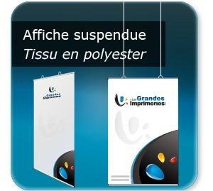 affiches touristique Poster textile à suspendre - structure Aluminium - avec oeillets plastiques positionnable