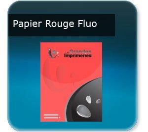 affiche magasins Papier rouge fluo