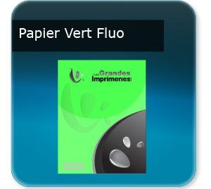 affichette produit Papier vert fluoo