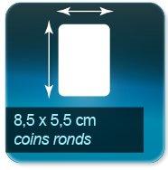 Autocollant & Étiquette Format 85x55mm coins ronds
