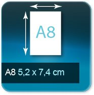 Autocollant & Étiquette Format A8  52x74mm