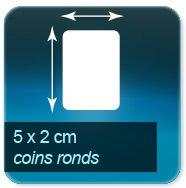 Autocollant & Étiquette 50x20mm coins ronds