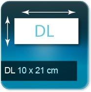 Autocollant & Étiquette DL 210 x 105 mm