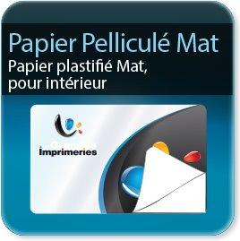 Autocollant & Étiquette Adhésifs papier satin 80g + pell. mat