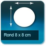 Autocollant & Étiquette Format Rond de 8cm de diamètre