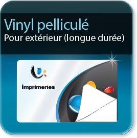 Autocollant & Étiquette Vinyl + pelliculage brillant