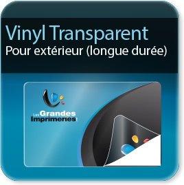 Autocollant & Étiquette Vinyl transparent (Attention les couleurs imprimées ne seront pas opaques mais transparentes ci-besoin contactez-nous pour un devis avec blanc de soutien)