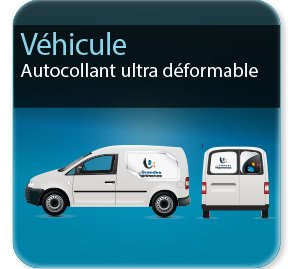 Autocollant & Étiquette Autocollant pour voiture  & véhicule (spécial ultradéformable)