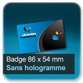 Badge Format 86x54mm