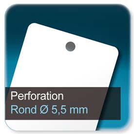 Badge Perforé rond de 5,5mm