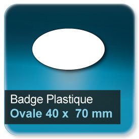 Badge Ovale 40x70 mm