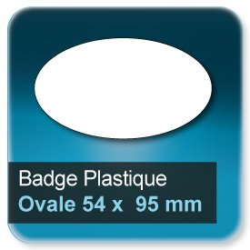 Badge Ovale 54x95 mm