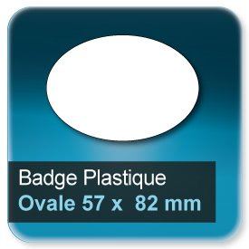 Badge Ovale 57x82 mm