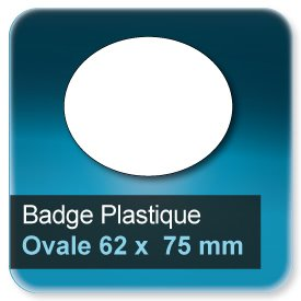 Badge Ovale 62x75 mm