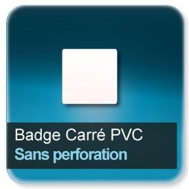 Badge Carré plastique Sans perforation