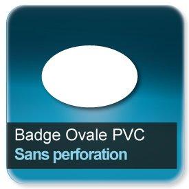 Badge Ovale plastique Sans perforation