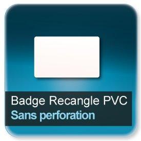 Badge Rectangle plastique Sans perforation