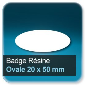 Badge Ovale 20x50mm