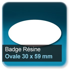 Badge Ovale 30x59mm