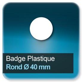 Badge Rond diamètre 40 mm