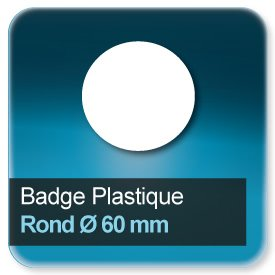 Badge Rond diamètre 60 mm