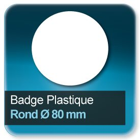 Badge Rond diamètre 80 mm