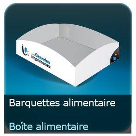 Emballage (Coffret, Boîte, carton, colis et etuis) Barquette Alimentaire carton personnalisé 360g Delipac (Résistant aux huiles, recyclable, compostable et biodégradable)