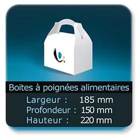 Emballage (Coffret, Boîte, carton, colis et etuis) Largeur de 185 mm - Profondeur 150 mm - Hauteur de 220 mm