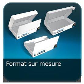 Emballage (Coffret, Boîte, carton, colis et etuis) Format personnalisé