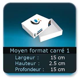 Emballage (Coffret, Boîte, carton, colis et etuis) 15 x 15 x 2,5 cm (Largeur x profondeur x hauteur)