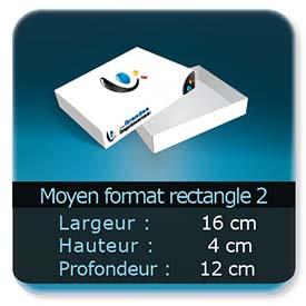 Emballage (Coffret, Boîte, carton, colis et etuis) 16 x 12 x 4,5 cm (Largeur x profondeur x hauteur)