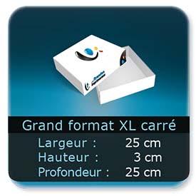 Emballage (Coffret, Boîte, carton, colis et etuis) 25 x 25 x 3 cm (Largeur x profondeur x hauteur)