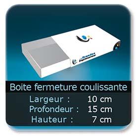 Emballage (Coffret, Boîte, carton, colis et etuis) 10 x 15 x 7 cm - Largeur de 10 cm - Profondeur 15 cm - Hauteur de 7 cm