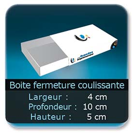 Emballage (Coffret, Boîte, carton, colis et etuis) 4 x 10 x 5 cm - Largeur de 4 cm - Profondeur 10 cm - Hauteur de 5 cm