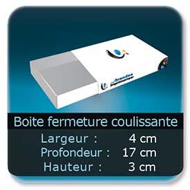 Emballage (Coffret, Boîte, carton, colis et etuis) 4 x 17 x 3 cm - Largeur de 4 cm - Profondeur 17 cm - Hauteur de 3 cm