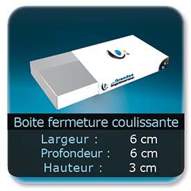 Emballage (Coffret, Boîte, carton, colis et etuis) 6 x 6 x 3 cm - Largeur de 6 cm - Profondeur 6 cm - Hauteur de 3 cm