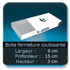Emballage (Coffret, Boîte, carton, colis et etuis) 9 x 15 x 3 cm - Largeur de 9 cm - Profondeur 15 cm - Hauteur de 3 cm