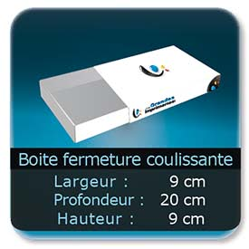 Emballage (Coffret, Boîte, carton, colis et etuis) 9 x 20 x 9 cm - Largeur de 9 cm - Profondeur 20 cm - Hauteur de 9 cm