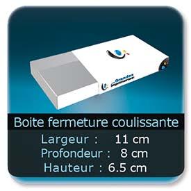 Emballage (Coffret, Boîte, carton, colis et etuis) 11 x 8 x 6,5 cm (Largeur x profondeur x hauteur)