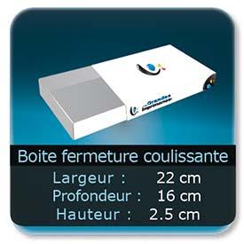 Emballage (Coffret, Boîte, carton, colis et etuis) 22 x 16 x 2,5 cm (Largeur x profondeur x hauteur)