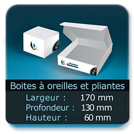 Emballage (Coffret, Boîte, carton, colis et etuis) Largeur de 170 mm - Profondeur 130 mm - Hauteur de 60 mm