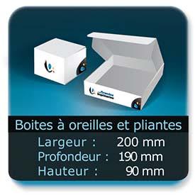 Emballage (Coffret, Boîte, carton, colis et etuis) Largeur de 200 mm - Profondeur 180 mm - Hauteur de 90 mm