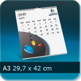 Calendriers A3 297x420mm
